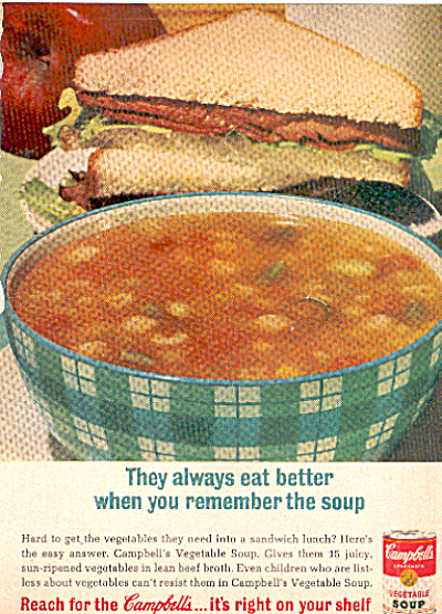 1964 Campbell's vegetable soup ad (Image1)