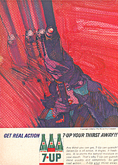 1964 7UP Seven Up  AD BOB PEAK ART (Image1)