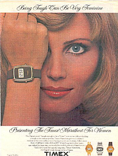 1970's Timex MARATHON EVELYN KUHN AD (Image1)