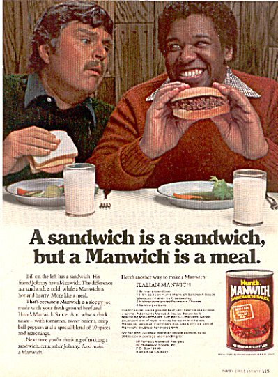 1977 Manwich Is A Meal Ad