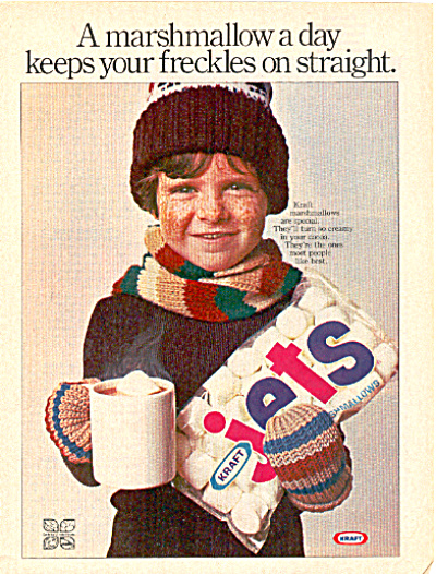 1977 Kraft JETS FRECKLES Marshmallow AD (Image1)