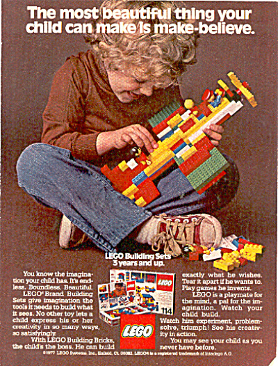 1977 Lego building set for 3 years and up ad (Image1)