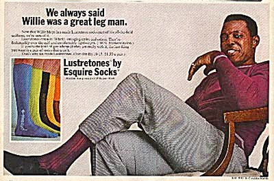 1968 Willie Mays Esquire Socks Ad