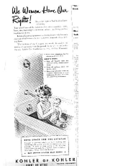 1943 Kohler Of Kohler LittleGirl InBathtub Ad (Image1)