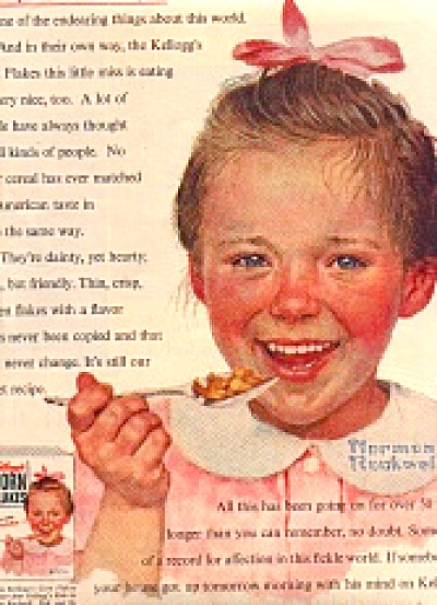 1954 Norman Rockwell Kellogg's CornFlake Ad (Image1)