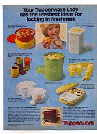 Vintage 1978 Tupperware Retro Pieces Ad (Image1)