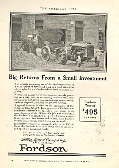 1926 Ford Fmc Fordson Tractor Ad Original