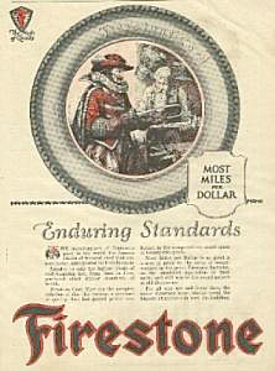 1922 Firestone Damascus Swords Tire AD (Image1)