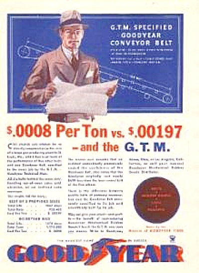 1933 GoodYear Technical Man Advertisement (Image1)