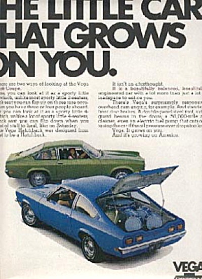 1971 Vega by Chevrolet Hatchback Car AD (Image1)