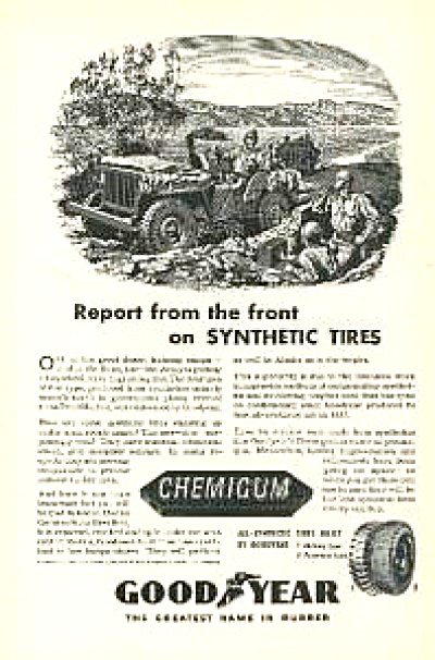 1943 Goodyear Tire Ad - Army Desert Training (Image1)