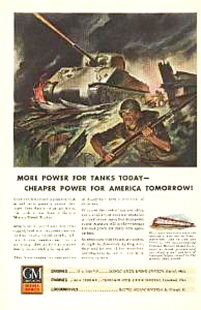 1943 GM Tank & Soldiers AD - Color Art (Image1)