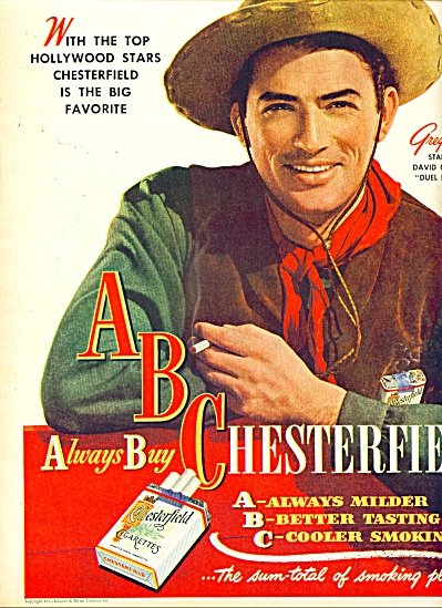 1947 - Chessterfield - Gregory Peck