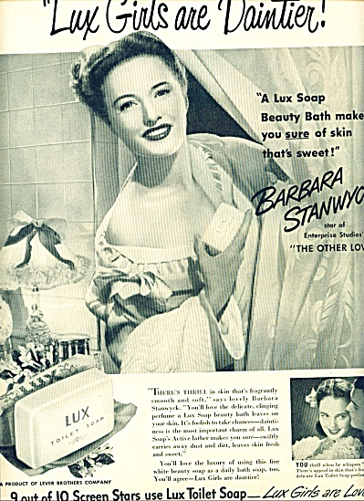 1947 - Lux Soap - Barbara Stanwyck