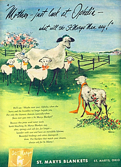 1947 - St. Marys Blankets ad (Image1)