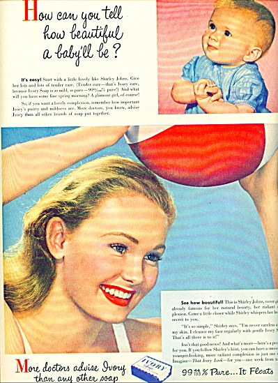1947 -  Ivory soap ad MODEL SHIRLEY JOHNS (Image1)