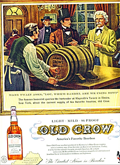 1958 -  Old Crow bourbon ad (Image1)