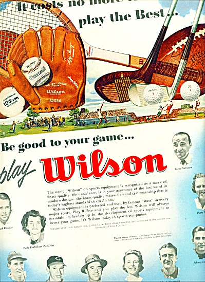 1951 -  Wilson sporting equipment ad (Image1)