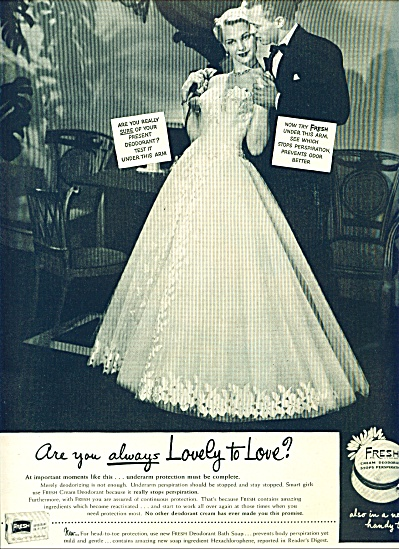 1951 - Fresh cream deodorant ad (Image1)