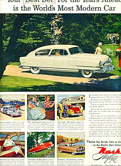 1951 -  Nash Airflyte auto ad (Image1)
