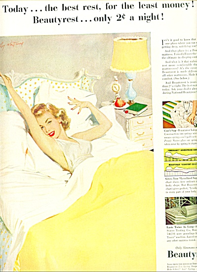 1951 - Simmons Beautyrest mattress ad (Image1)