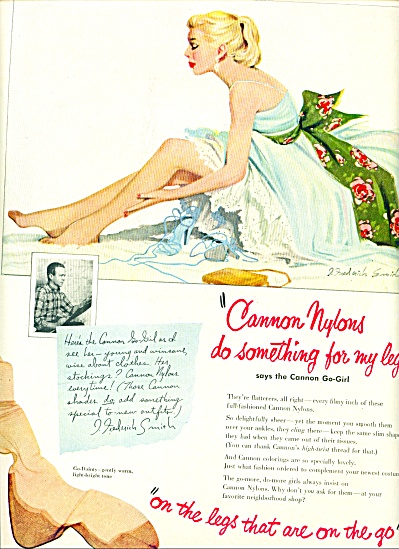 1951 -  Cannon Nylons ad (Image1)