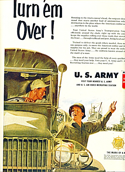 1951 - U. S. USAAF Army ad RECRUITMENT - Art by Kling (Image1)