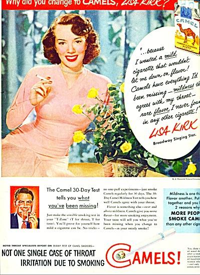 1951 - Camels cigarettes - LISA KIRK (Image1)