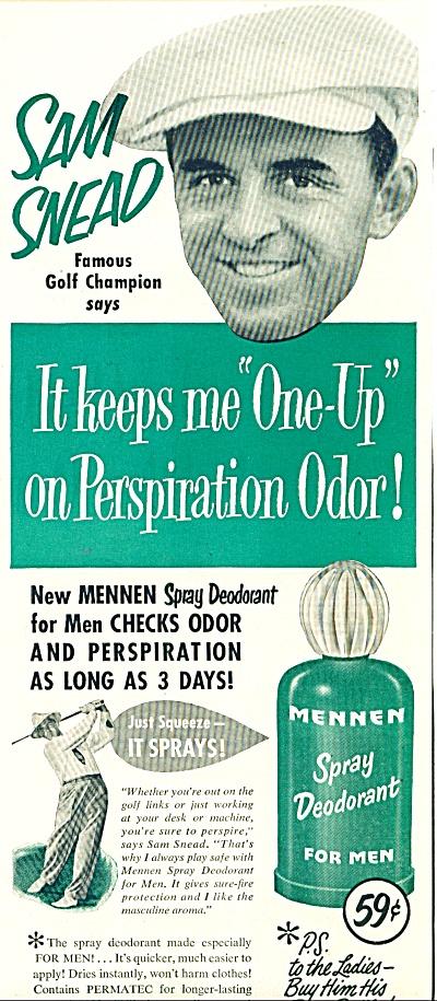 1951 -  Mennen spray deodorant-SAM SNEAD (Image1)