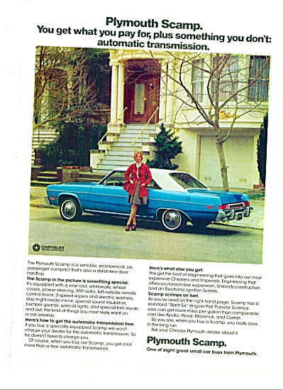 1974 =- Plymouth Valiant Brougham & Scamp