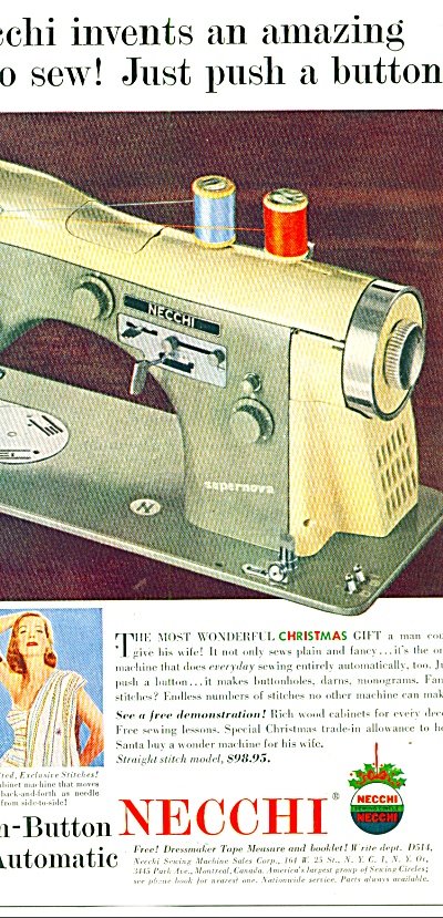 1955 -   Necchi sewing machine ad (Image1)