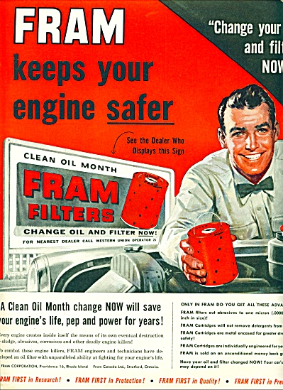 1955 -  Fram oil filters ad (Image1)