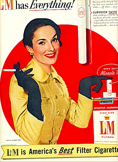 1955 - L & M filter cigarettes ad (Image1)