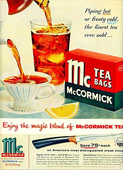 1955 -  McCormick tea bags ad (Image1)