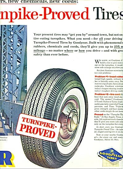 1959 - Goodyear Tires Ad