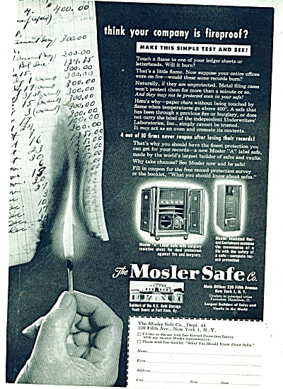 The Mosler Safe Co., ad 1949 (Image1)