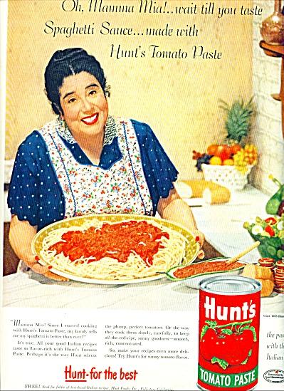 1955 - Hunt's Tomato Paste ad (Image1)
