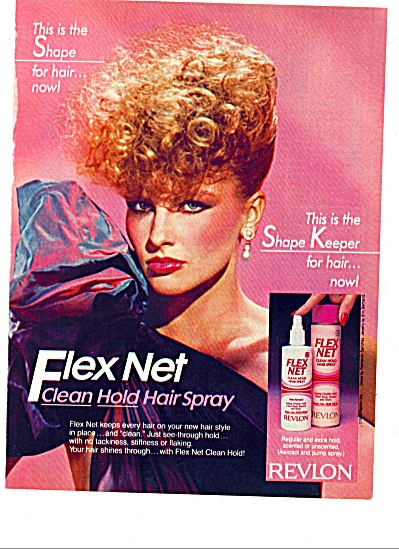 1983 - Flex Net Hair Spray From Revlon Ad