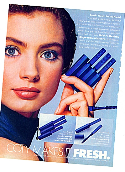 1988 -  Coty makes it fresh ad MODEL PRISCILLA (Image1)