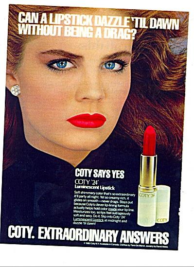 1983 -  Coty Lipstick AD BROOKE SHIELD Pouty (Image1)