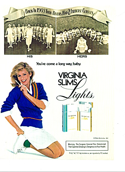 1983 -  Virginia slims lights ad (Image1)