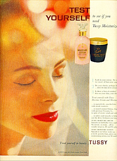 1959 -  Tussy moisture cream and lotion ad (Image1)