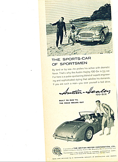 1959 -  Austin-Healey automobile ad (Image1)