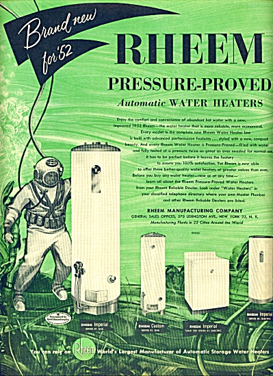 1952- Rheem water heaters ad (Image1)