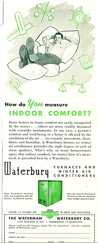 1952 -Waterman Waterbury furnaces ad (Image1)