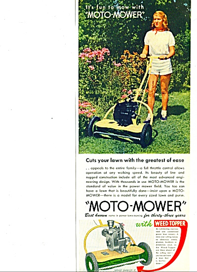 1952 -  Moto-mower  lawn mower ad (Image1)