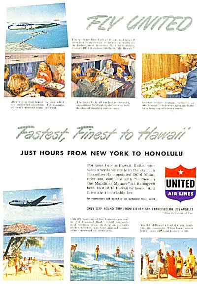 United Air Lines ad 1949 (Image1)