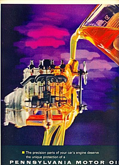 1962 -  Pennsylvania Motor oil ad (Image1)