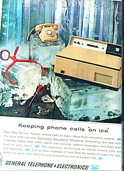 1962 - General Telephone & Electronics Ad Thaw