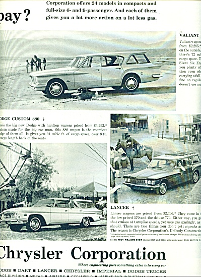 1962 - Chrysler Corporation cars ad (Image1)